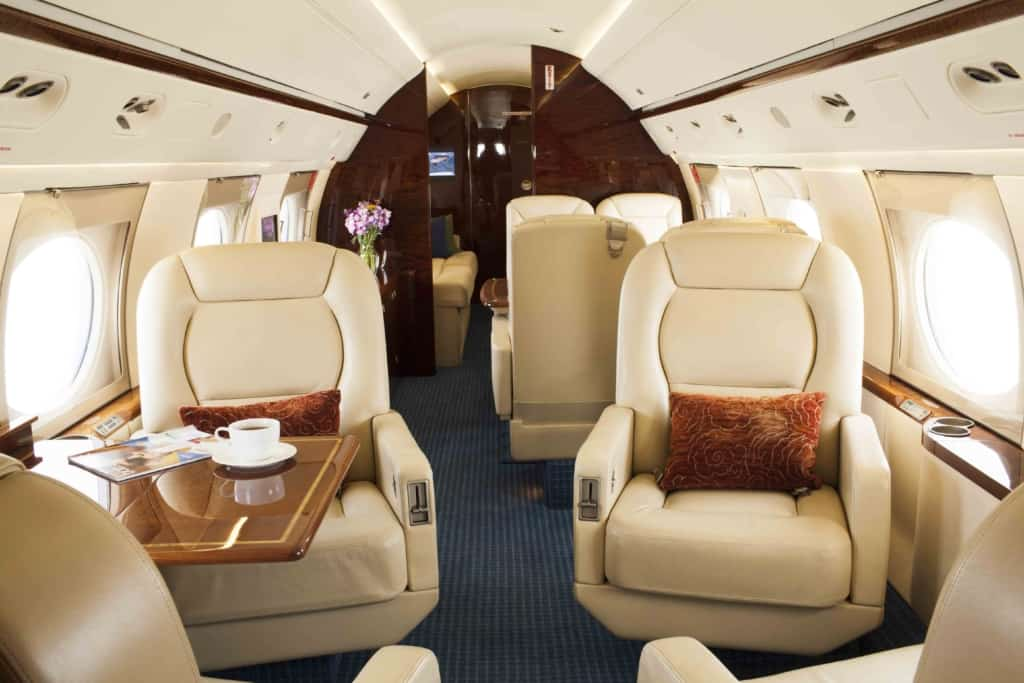 Gulfstream IV Interior Fwd-to-Aft-w-staging