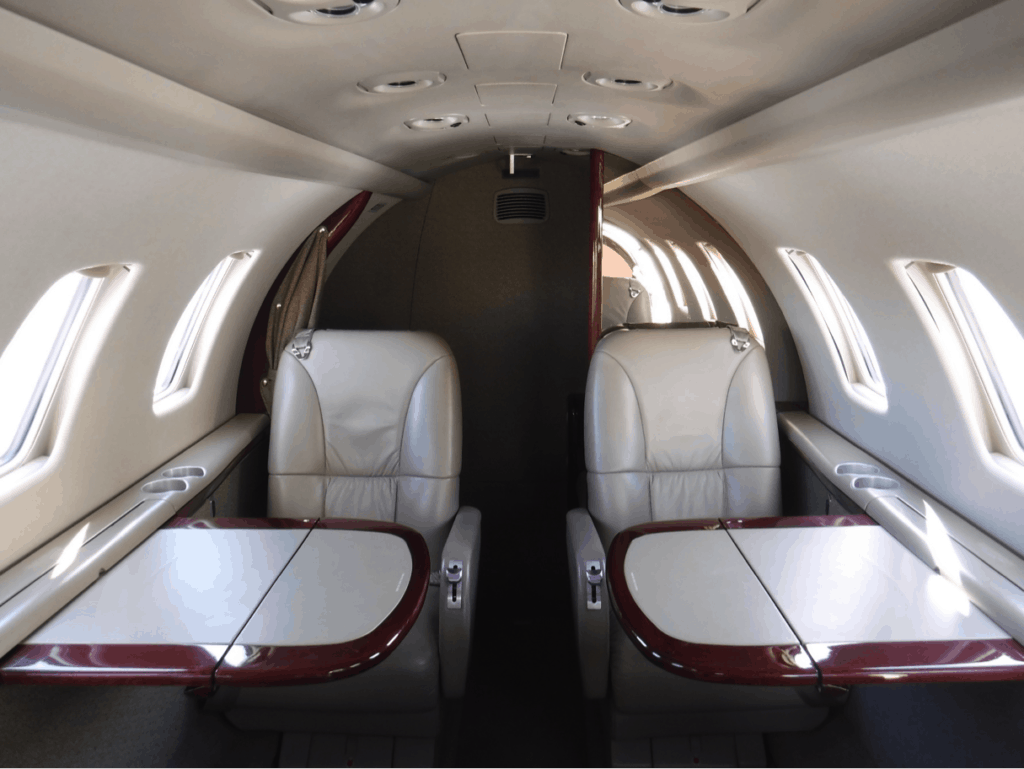 Citation CJ1+ Interior with tables extended