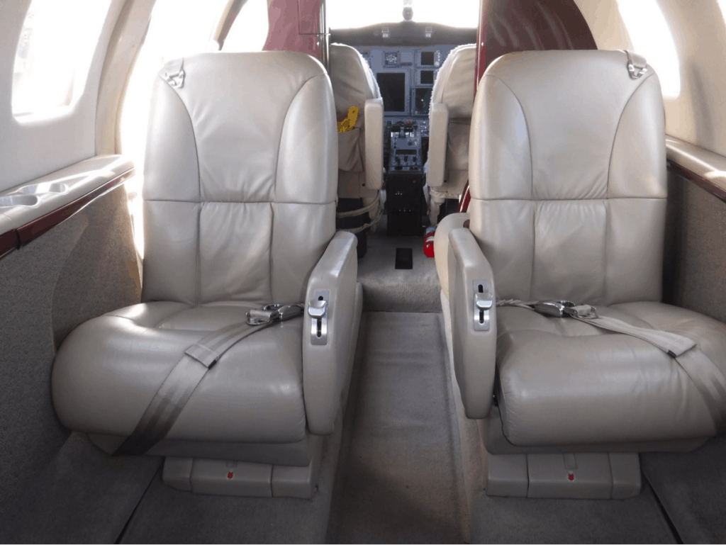 Citation CJ1+ Interior Aft Facing Seats
