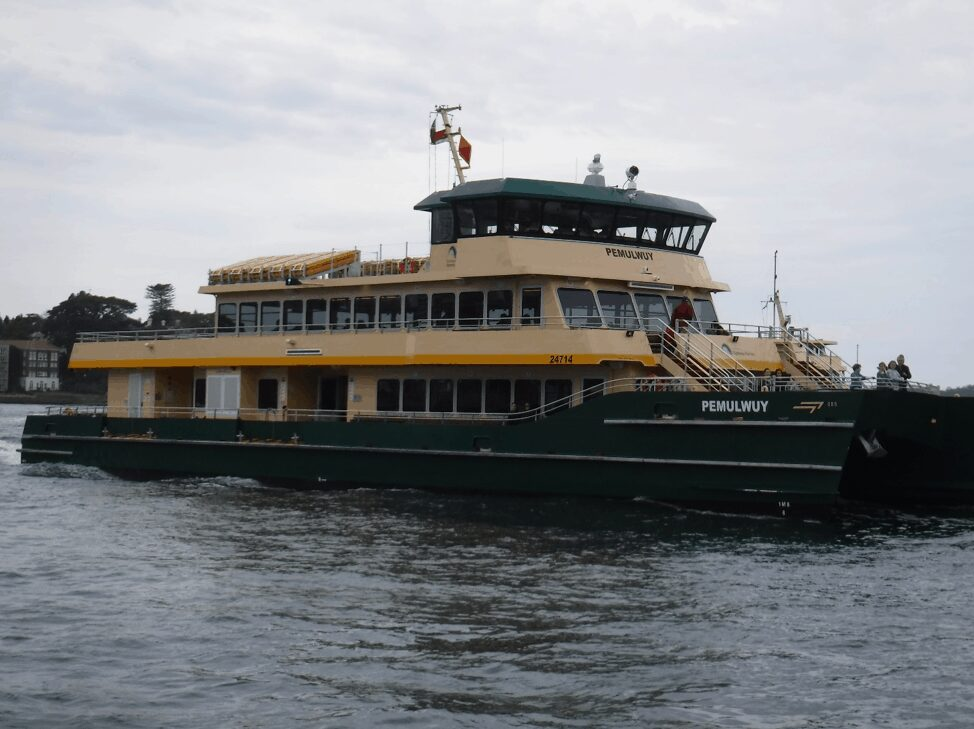 Clow Family Vacation - Ferry in Australia